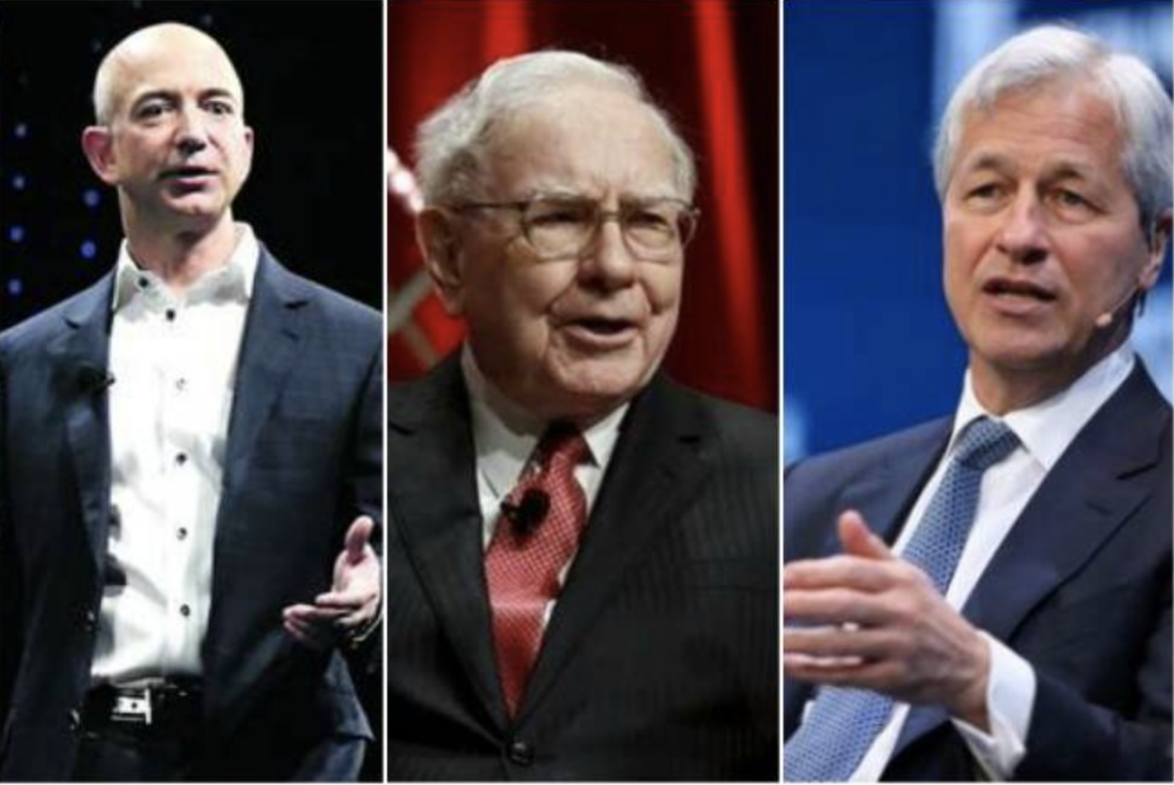 Bezos, Buffett, DImon
